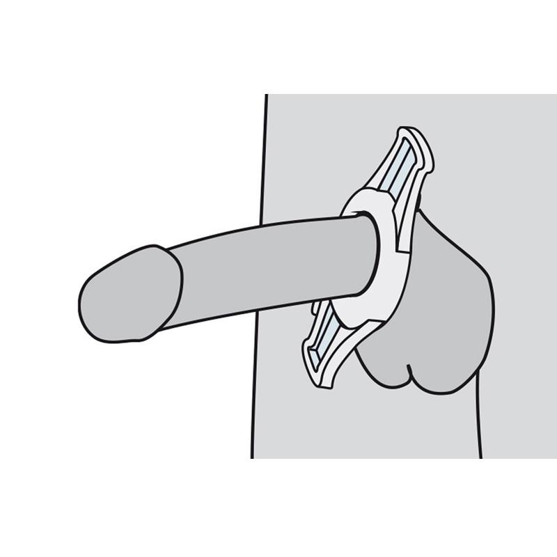 Anneau de constriction sur pénis pour maintenir l'érection en dehors du vacuum