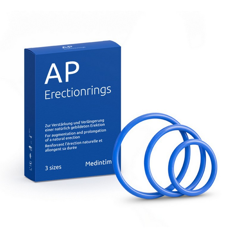 Boîte de 3 anneaux d'érection AP Erectionrings
